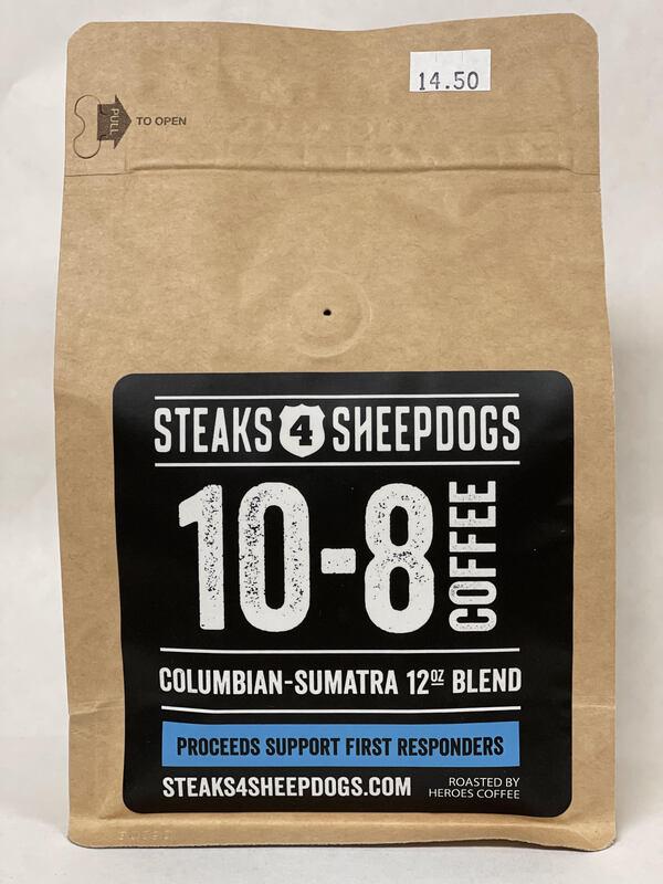STEAKS 4 SHEEPDOGS 10-8 COFFEE