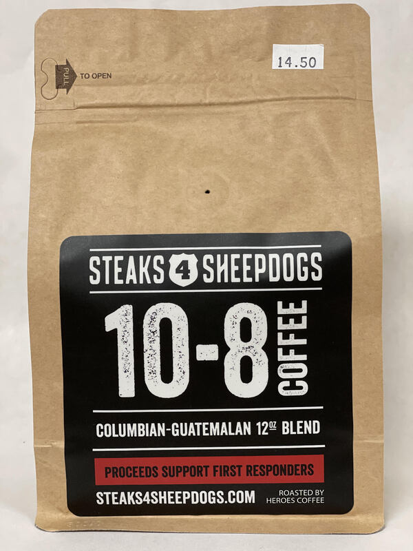 STEAKS 4 SHEEPDOGS 10-8 COFFEE